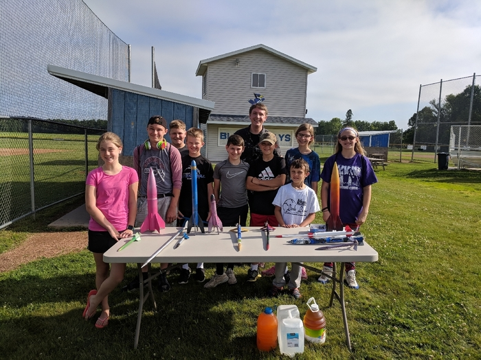 Summer school Rocket Building class.
