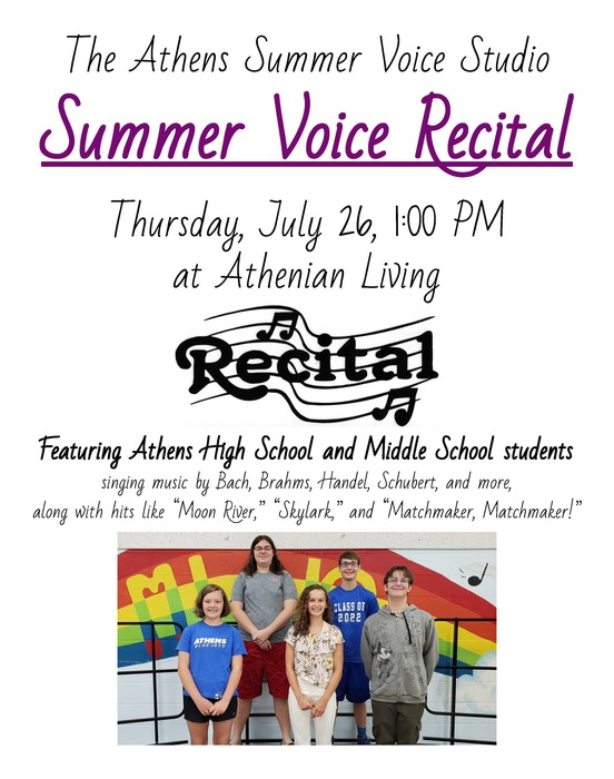 Summer Voice Recital Flyer