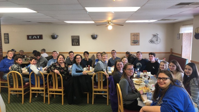 Spanish I and Spanish II students were treated to a Mexican meal at the Athens Country Cafe