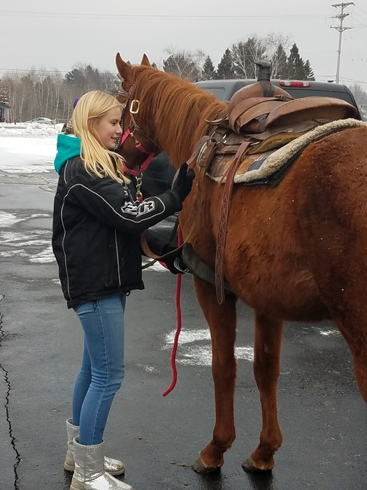 Math Genius Hour: One student taught her class how to saddle a horse with an English saddle.