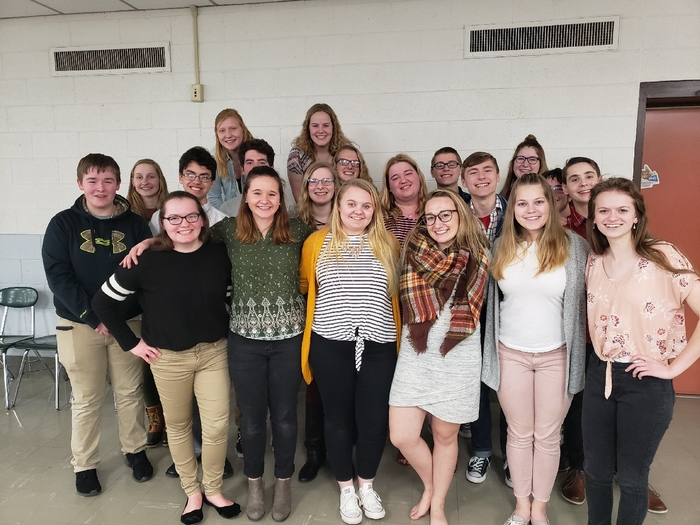 HS Forensics team in Colby
