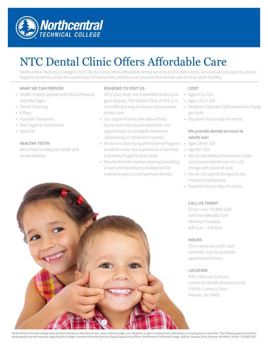 NTC Dental Flyer