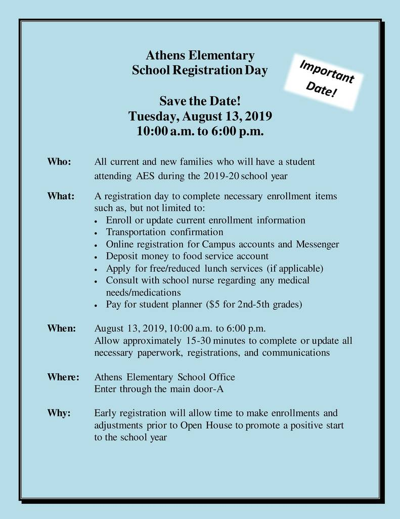 Registration Day 2019