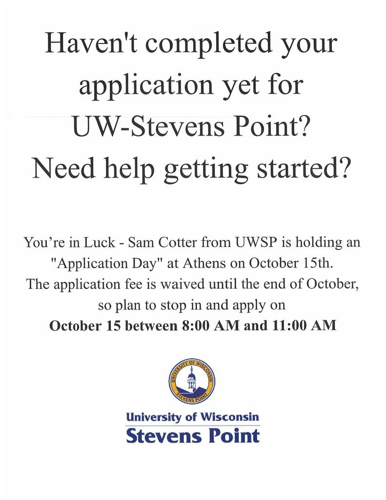 UWSP Application Day