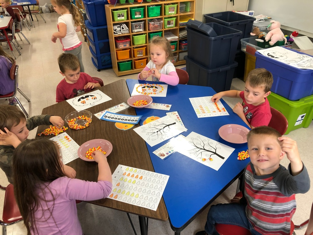 Candy corn math and fine motor skills.