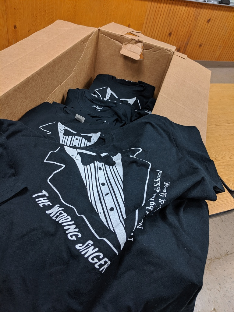 Shirts for the upcoming play