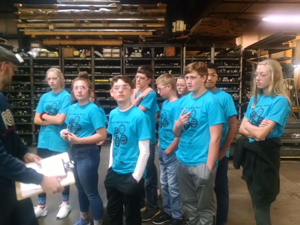 8th Graders at Merrill Steel