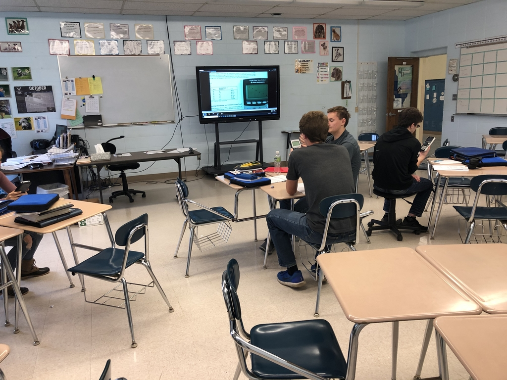 Mrs. Ziegel's Advanced Math class is using graphing calculators to learn about linear functions.