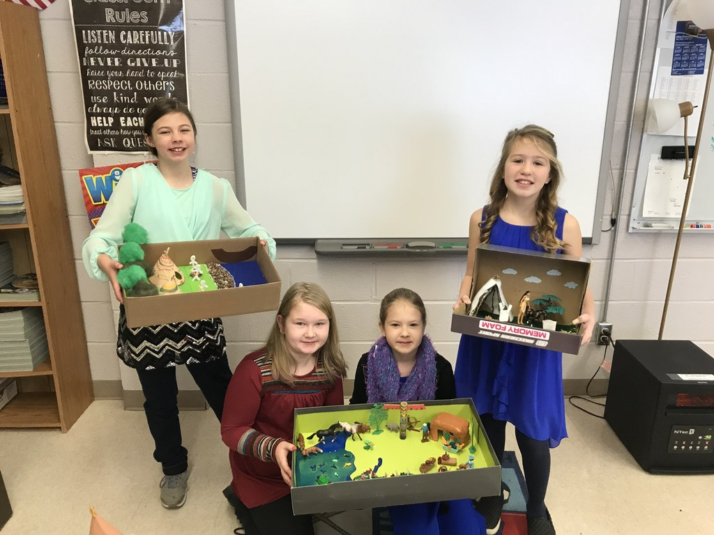 4th Grade Diorama Project (Trading Post/Indian Village)
