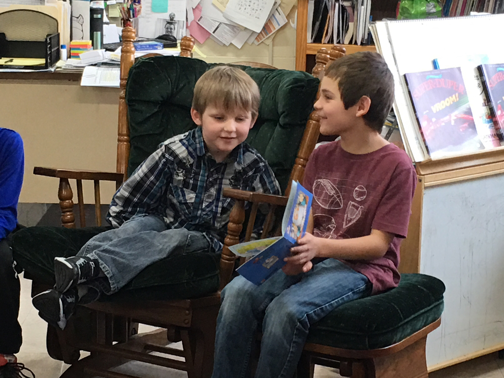 Reading is fun with a buddy!