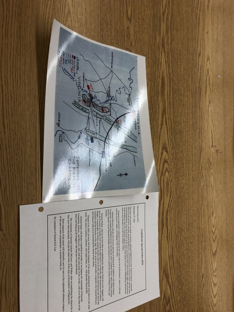 The plans and map.