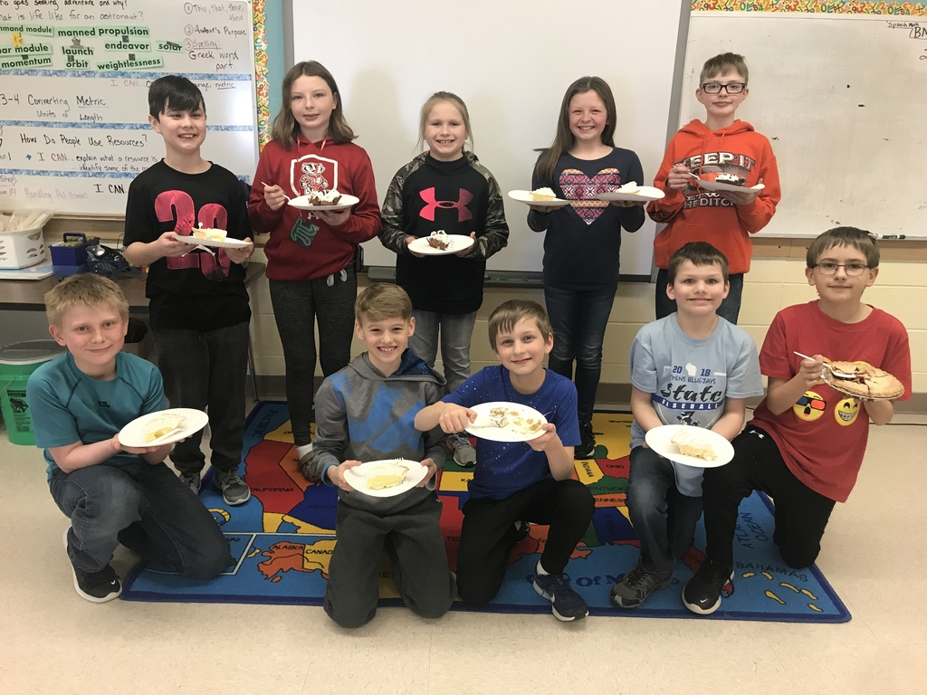 Some yummy pie to finish our Pi Day celebration!