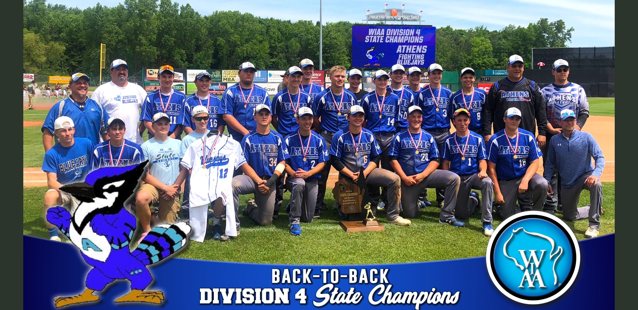 The State Champion Boys Baseball Team