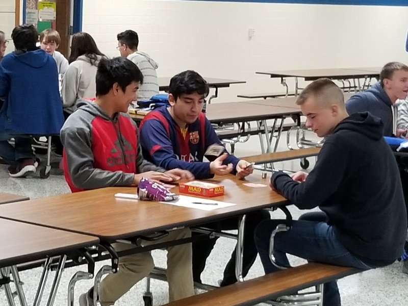 Students Playing Board Games During FLEX
